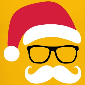 Funny Santa Claus with nerd glasses and mustache Shirts - Kids' Premium T-Shirt