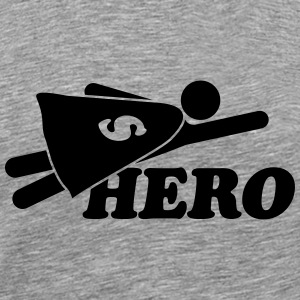 Super Hero Man T-shirts - Premium-T-shirt herr
