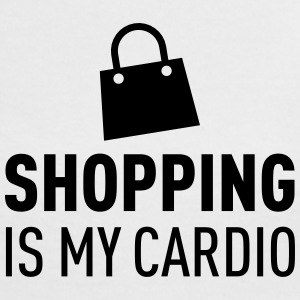 Shopping Is My Cardio T-shirts - Vrouwen contrastshirt