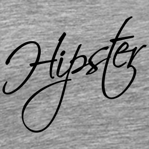 Hipster Text Design T-shirts - Herre premium T-shirt
