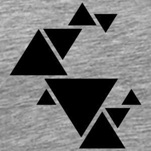 Hipster Triangle Design T-Shirts - Men's Premium T-Shirt