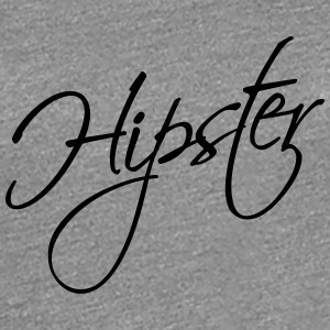 Hipster Text Design T-Shirts - Women's Premium T-Shirt