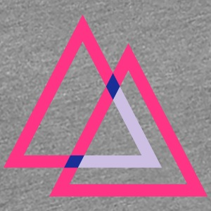 Cool Hipster Triangle Design T-Shirts - Women's Premium T-Shirt