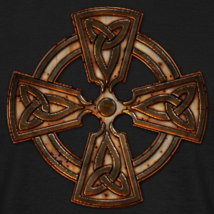 Old Metal Four Triquetra Cross.png Tee shirts - T-shirt Homme