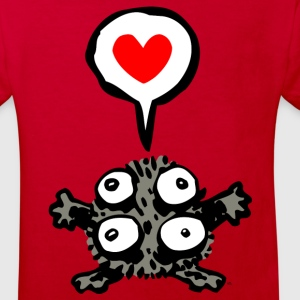 Cute Affectionate Little Monster- Cheerful Madness Shirts - Kids' Organic T-shirt