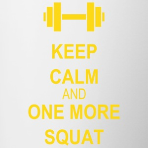 Keep calm and squat Flessen & bekers - Mok tweekleurig