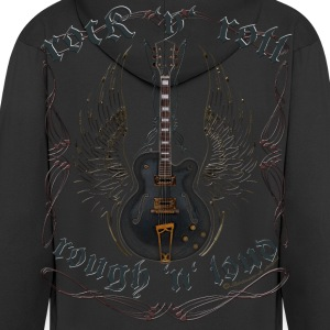 rock n roll rough loud guitar wings Pullover & Hoodies - Männer Premium Kapuzenjacke