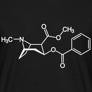 Cocaine crack molecule T-Shirts - Men's T-Shirt