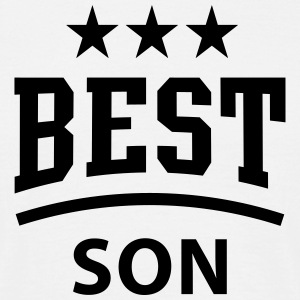 BEST SON 3 Star Design T-Shirt BW - T-shirt herr