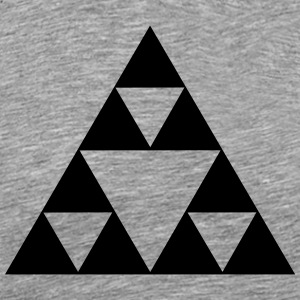 Triangle mathematics, Sierpinski fractal, geometry T-Shirts - Men's Premium T-Shirt