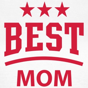 BEST MOM 3 Star T-Shirt RED - Dame-T-shirt