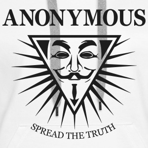 Anonymous NWO  Sweat-shirts - Sweat-shirt à capuche Premium pour femmes