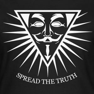 Anonymous NWO Spread the Truth 1c Tee shirts - T-shirt Femme