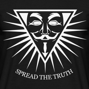 Anonymous NWO Spread the Truth 1c Tee shirts - T-shirt Homme