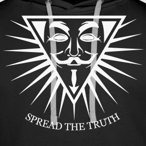 Anonymous NWO Spread the Truth 1c Sweat-shirts - Sweat-shirt à capuche Premium pour hommes