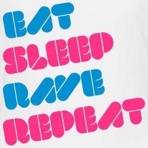 i love eat sleep rave repeat music raver t-shirts Magliette - Maglietta Premium per bambini