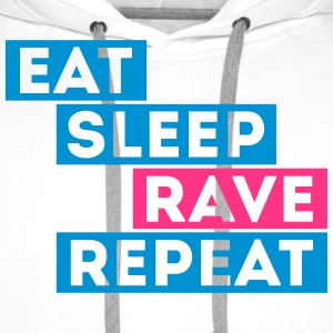 eat sleep rave repeat music t-shirts Sudaderas - Sudadera con capucha premium para hombre