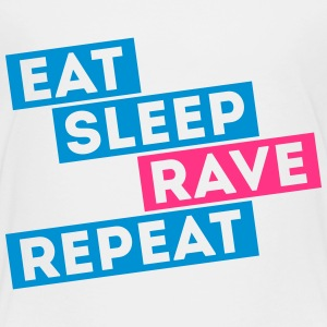 i love eat sleep rave dance music repeat t-shirts Shirts - Kids' Premium T-Shirt
