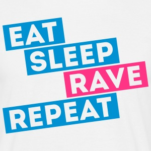 i love eat sleep rave dance muziek repeat t-shirts T-shirts - Mannen T-shirt