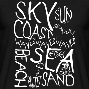 Beach Words in Monochrome T-Shirts - Men's T-Shirt
