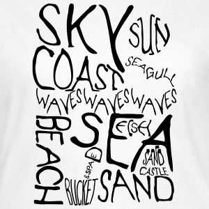 Beach Words in Monochrome T-Shirts - Women's T-Shirt