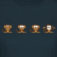 Design ~ 4 wise monkeys standard TS Woman