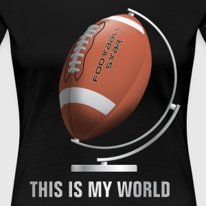 globe_world_sport_122013_football_b T-Shirts - Frauen Premium T-Shirt