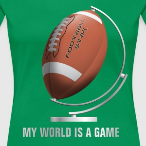 globe_world_sport_122013_football_c T-Shirts - Frauen Premium T-Shirt