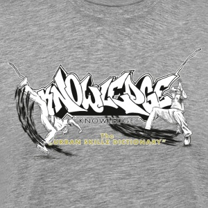 KNOWLEDGE - the urban skillz dictionary - promo sh T-shirts - Mannen Premium T-shirt