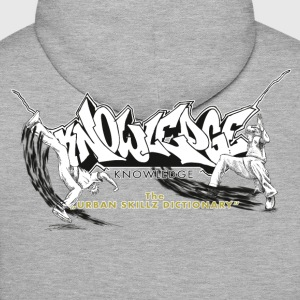 KNOWLEDGE - the urban skillz dictionary - promo sh Sweat-shirts - Sweat-shirt à capuche Premium pour hommes