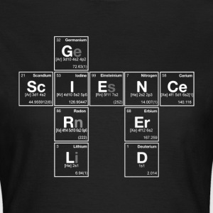 NERD SCIENCE GIRL! - Periodic Elements Scramble - Women's T-Shirt