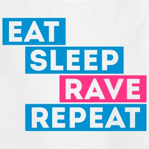 eat sleep rave repeat muziek dj t-shirts Shirts - Teenager T-shirt