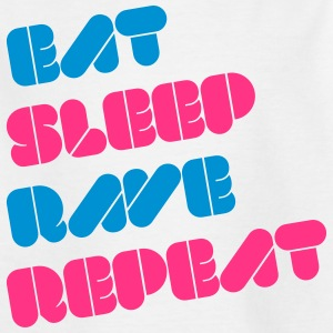 i love eat sleep rave repeat muziek raver t-shirts Shirts - Teenager T-shirt