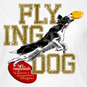 border collie disc dog T-shirts - Vrouwen T-shirt