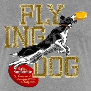 border collie disc dog T-Shirts - Women's Premium T-Shirt