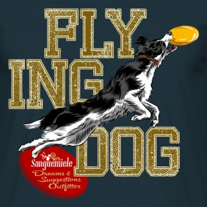 border collie disc dog Tee shirts - T-shirt Homme