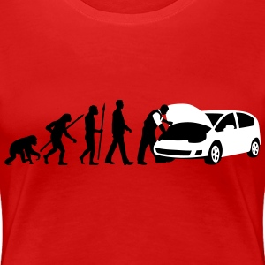 evolution_kfz_mechaniker_122013_b_2c T-Shirts - Frauen Premium T-Shirt