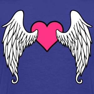 Angel Wings Feather Heart T-shirts - Herre premium T-shirt