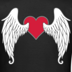 Angel Wings Feather Heart T-Shirts - Women's T-Shirt