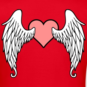 Angel Wings Feather Heart T-shirts - T-shirt dam