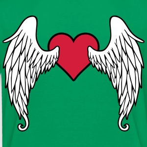 Angel Wings Feather Heart Magliette - Maglietta Premium per bambini