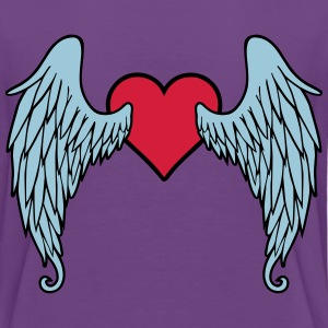 Angel Wings Heart Shirts - Teenage Premium T-Shirt