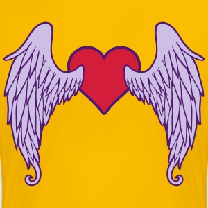 Angel Wings Heart T-shirts - Dame premium T-shirt