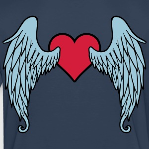 Angel Wings Heart T-Shirts - Kinder Premium T-Shirt
