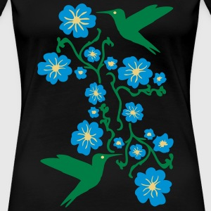 Hummingbirds with Flower Tee shirts - T-shirt Premium Femme
