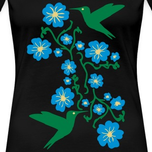 Hummingbirds with Flower Camisetas - Camiseta premium mujer