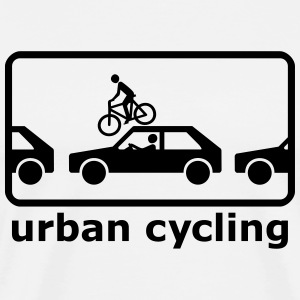 urban cycling T-skjorter - Premium T-skjorte for menn