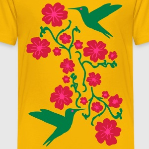 Hummingbirds with Flower T-Shirts - Teenager Premium T-Shirt