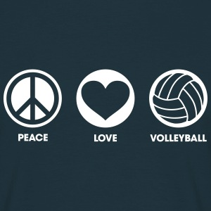 Peace Love Volleyball Tee shirts - T-shirt Homme