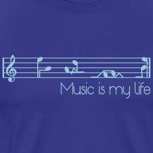music is my life T-Shirts - Men's Premium T-Shirt